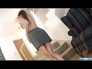 Superb serina hayakawa tries big toy up the pussy