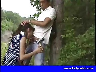 Japanese girl blowjob for money in public place