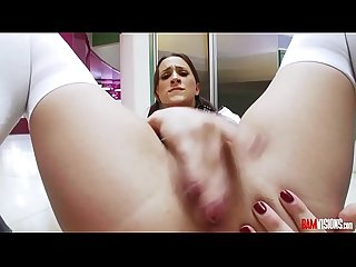 Ashley Adams Sucks a Big Cock and gets her pussy fucked