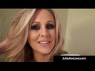 Sensual milf julia ann paints her toenails shows sexy feet