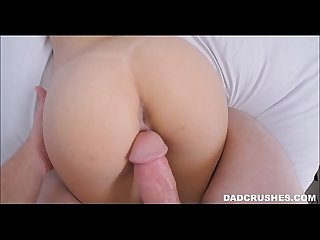 Stepdaughter lets dad cum inside her