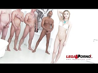 Olivia devine ultra hardcore anal gangbang with 8 swallows