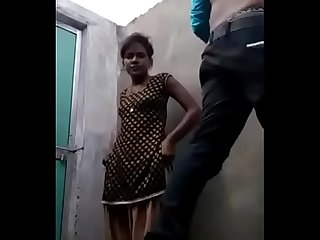 Indian outdoors sex with girlfriend