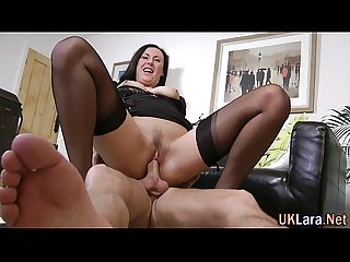 Jizz spray stockings brit