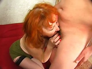 Russian boy fucking a mature lady