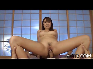 Tantalizing japanese titty fuck