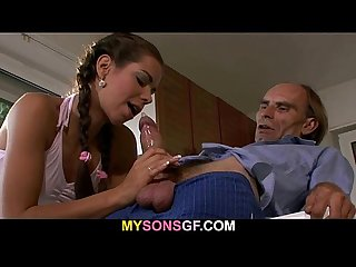 Guy finds gf riding his dad s cock
