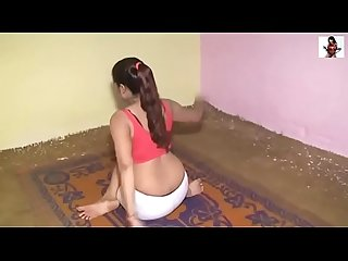 Hot Yoga - Hot Sexy Indian Desi Girl's workout at home .MKV