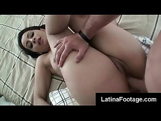 Sexy latina girlfriend jazlyn dimez gets her juicy pussy filled