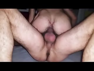 New friend breeded, filled with cum. Classic group breeding