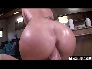 Stunning Sexy jamie gets fucked in hardcore doggystyle by dudes huge cock