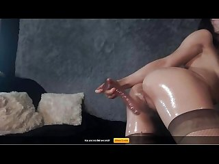 Sensual webcam anal