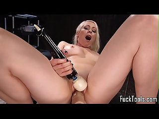 Machine loving milf stuffed in ass and pussy
