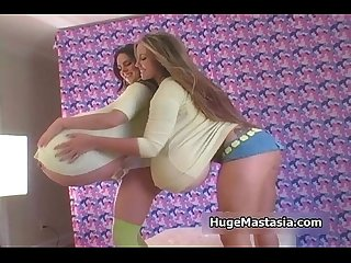 Cute teenage bizarre babes playing