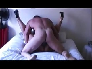 Hot as hell wife moaning while taking a hard pounding