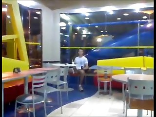 guy jerking off in public mc donalds