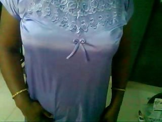 Mallu aunty changing dress and playing with dick