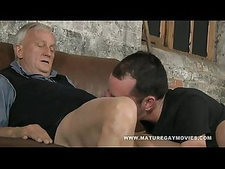 Hot young lad gets fucked by mature daddy