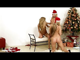 Santa Surprise lesbian threesome with Sharon Cayenne and Katerina from Sapphic E