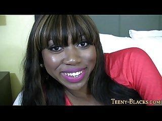 Ebony Teen pov facialized