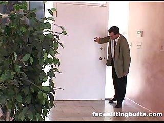Milf slut fucks her landlord because she S broke