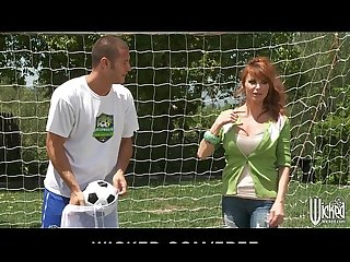 Big tit british redhead soccer mom lia lor fucks her son s coach
