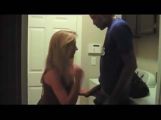 Blonde milf fucked by bbc in laundry room