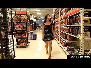Masturbation and orgasm in Walmart
