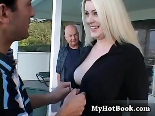 Heather bradley is a big boobed girl who has long