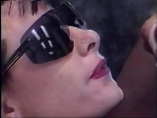 Madison stone in sunglasses gets big facial blowing peter north