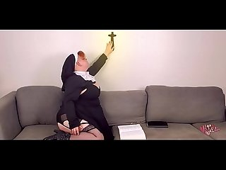 sunday school special: chubby nun fucks crucifix -short
