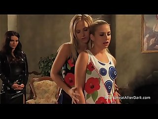 Mistress and handmaiden gorgeous young blondes undressing