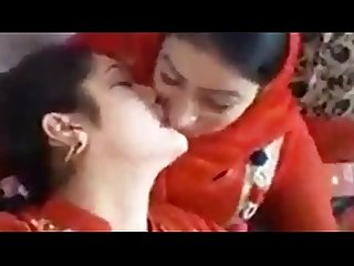 Paki cute girls pressing boobs smoking and kissing