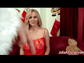 Busty milf julia ann sucks off santa excl