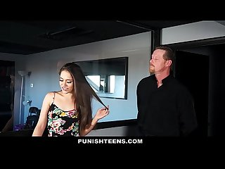 Punishteens tiny teen turned into a well trained submissive slut