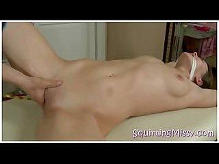Bound Blonde Teen Extreme Squirting