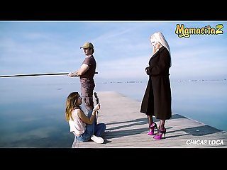 MAMACITAZ - British MILF Blondie Has Sex On The Beach With A Lucky Fisherman - Georgie Lyall