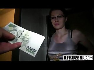 Xfrozen a czech student gets fucked for money part 1