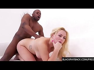 Rough BBC anal for sexy blonde cunt