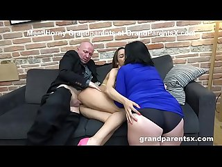 Horny Old Couple Pays Exotic Dancer to Fuck