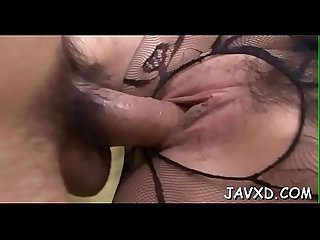 Oriental doxy gets caressed tenderly and sucks big long dick