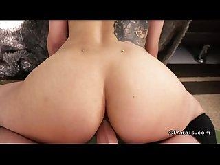 Yoga girlfriend anal fucks pov