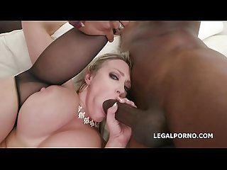 Monsters of TAP, Dee Williams gets 4 big dicks with balls deep anal, DAP,..
