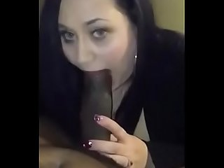 Real slutty milf giving head to a huge black cock