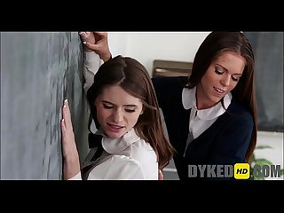 Two Girls Fuck The New Girl At School - DYKEDhd.com