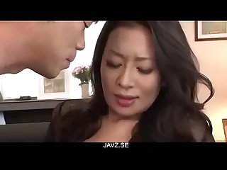 Rei Kitajima, hot wife, amazing porn scenes on the couch - From JAVz.se