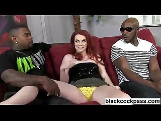 Andrea Sky worships big black cocks