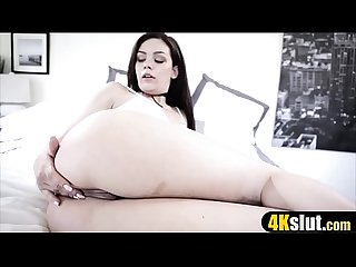Honey stretch your asshole Pa needs a quick anal sex