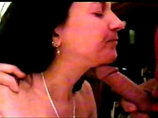 My wife loves sucking lots of cocks