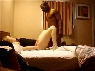 Curvy milf hooks up with black guy
